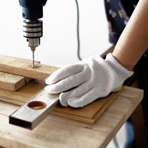 drilling wood